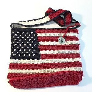 The Sak American Flag Shoulder Purse. 4th of July